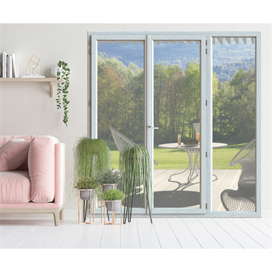 double french door - exterior insulation installation - in'alpha 80 - pf2