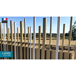 random top and aligned bottom stem® wall fence
