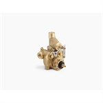 mastershower® thermostatic valve with integrated volume control and stops