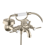AXOR Montreux 2-handle bath mixer for exposed installation with lever handles 16551820