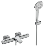 ceratherm t50 bath and shower thermostatic exposed offset & kit