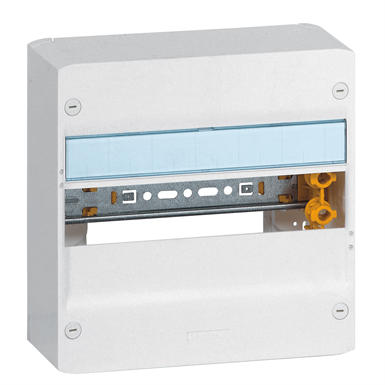 Drivia insulating enclosures for the realization of residential electrical panels from 1 to 4 rows of 13 modules