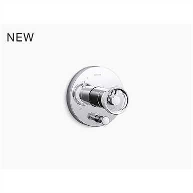 components™ rite-temp® shower valve trim with diverter and industrial handle