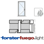 Door Forster fuego light EI90, single leaf