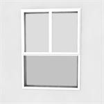 fenêtre à frappe 2 vantaux oscillo-battante sur allège vitrée hauteur fixe (1000 mm)