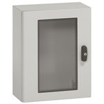 Atlantic IP66 waterproof enclosures - IK10 - RAL 7035 with glass door 400x300x200mm to 1000x800x300mm