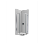 VICTORIA L2 1200 - Lateral shower enclosure with 1 sliding door + 1 fixed panel