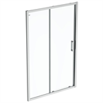 connect 2 slider door 130 clear glass bright silver finish