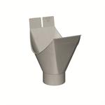 gutter plug-in outlet half-round (size 333_100, prepatina graphite-grey)