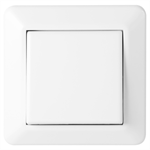 1-button cross switch RS16 flush PureWhite