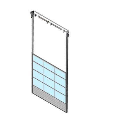 Sectional overhead door 601 - vertical lift - Full vision panels
