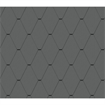 diamond tile facade (228 mm x 330 mm, prepatina graphite-grey)