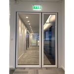 steel double fire door - double action
