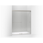 """revel sliding shower door, 70"""" h x 56-5/8 - 59-5/8"""" w, with 5/16"""" thick crystal clear glass"""
