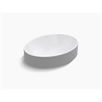 k-99183-0 vox® oval vessel bathroom sink