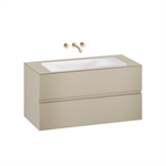 ARMANI - BAIA 1200 mm wall-hung furniture for  countertop washbasin and wall-mounted basin mixer