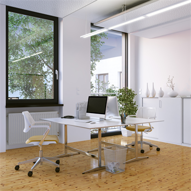 single casement window with roller shutter- exterior insulation installation alya - of1