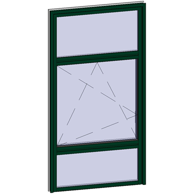 window opening inside with sublight and transom