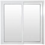 Lifting slide Single door in white painted wood