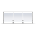 Sectional Railing Glass Side mounted
