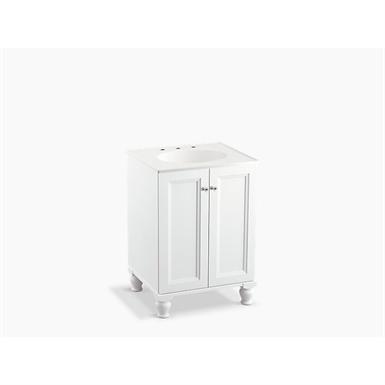 """Damask® 24"""" bathroom vanity cabinet with furniture legs and 2 doors"""