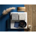 hi-macs® plattenmaterial – terrazzo kollektion