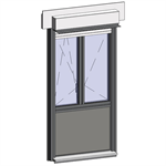 window opening inside with sublight and shutter