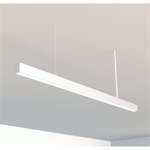 runline suspended luminaire for false ceiling