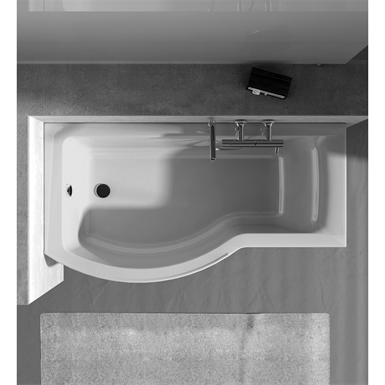 connect bath asy 170x90mm lh built in white