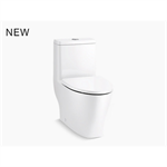 reach™ curv one-piece compact elongated dual-flush toilet with skirted trapway