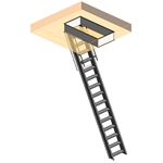 "Super Simplex Disappearing Stairway For Ceiling Height Of 12' 1""- 13' 6"" w/ Standard Box Frame"