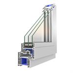 OKNOPLAST window PIXEL, double window - movable central mullion