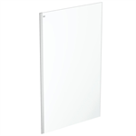 connect 2 wet room panel 120 clear glass bright silver finish