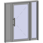 grand trafic doors - anti finger pinch version - single outward opening with 2 fixed