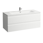 LAUFEN PRO S Combination of washbasin with vanity unit 1200 mm, with two drawers