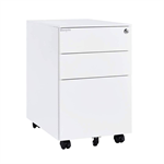 Bonnlo 3 Drawer Metal Mobile File Cabinet, Steel