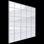 façade rideau univers® 54 bande filante trame horizontale