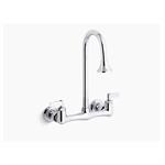 triton® double lever handle utility sink faucet with rosespray gooseneck spout