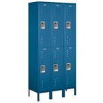 62000 Series Standard Metal Lockers - Double Tier - 3 Wide