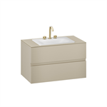 ARMANI - BAIA 1000 mm wall-hung furniture for countertop washbasin and deck-mounted basin mixer