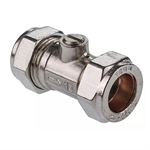 15mm & 22mm Chrome Isolating Valve - WRAS 36372, 36373