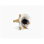 """rite-temp® 1/2"""" pressure-balancing valve with push-button diverter and screwdriver stops"""