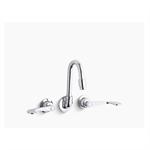 triton® shelf-back double wristblade lever handle sink faucet