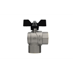 Progress F-F right angle ball valve with butterfly handle
