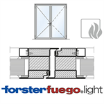 Door Forster fuego light EI90, double leaf