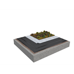 Base KL 2-layer inverted roof system for extensive green roof on concrete non-insulated