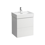 KARTELL BY LAUFEN Vanity unit, 2 drawers, incl. drawer organiser, matches washbasins 810333, 810338, 810339, 813332