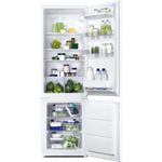 Zanussi BI Slide Door Fridge Freezer Freezer at the bottom 1772