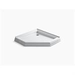 "memoirs® 42"" x 42"" neo-angle single threshold rear center drain shower base"