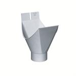 gutter plug-in outlet half-round (size 333_100, prepatina blue-grey)